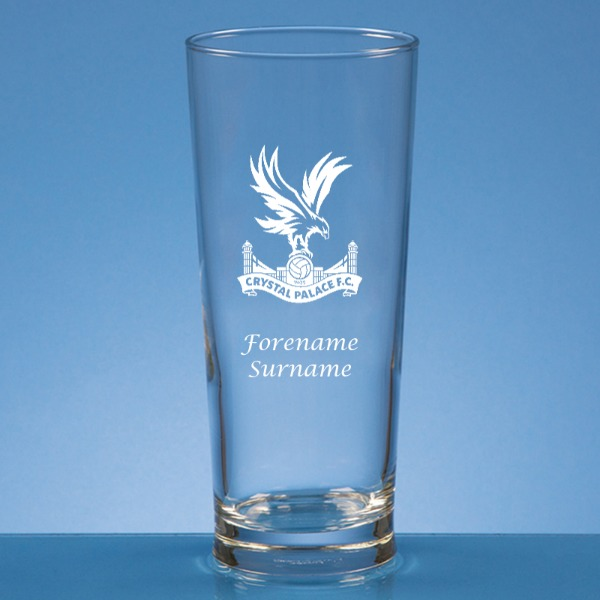 Crystal Palace FC Crest Straight Sided Beer Glass