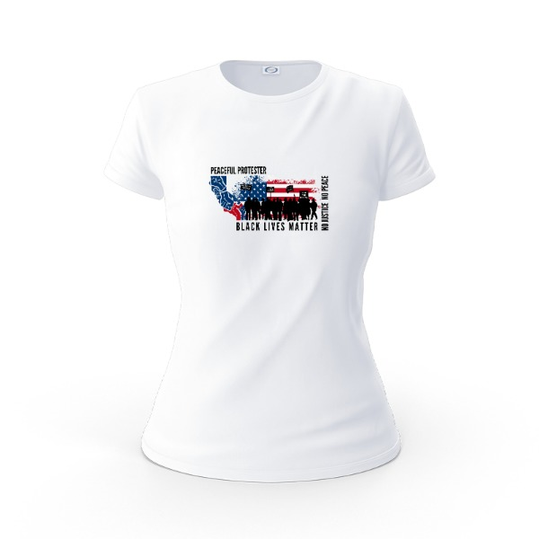 PEACEFUL PROTESTER BLM - Ladies Solar Short Sleeve