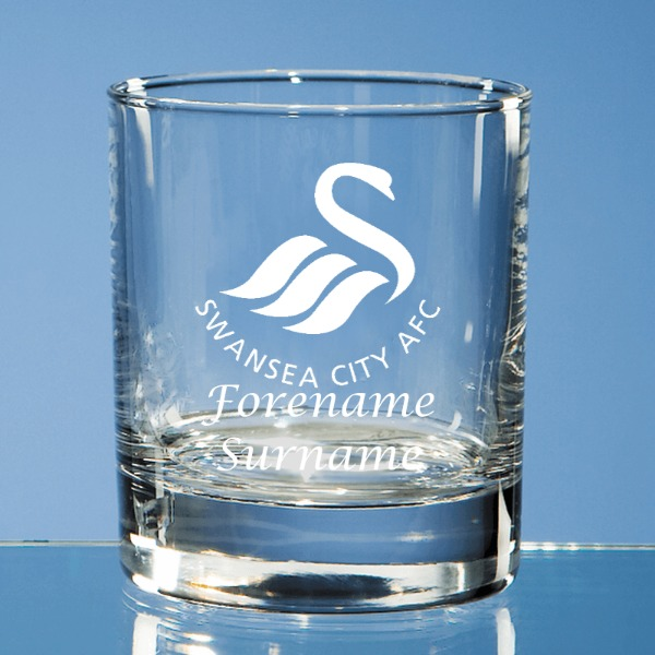 Swansea City AFC Crest Old Fashioned Whisky Tumbler