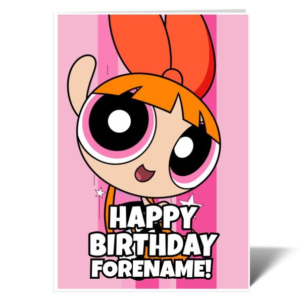 Powerpuff Girls Blossom Comic Birthday Card