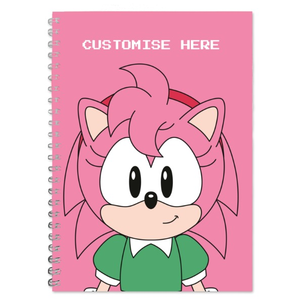 A5 Notebook - Amy Face - Classic Sonic