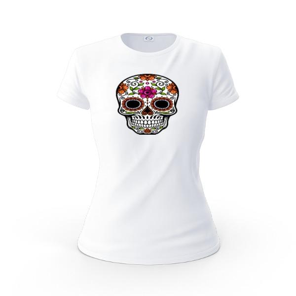 Camiseta del día de los muertos - Ladies Solar Short Sleeve Small Print Area