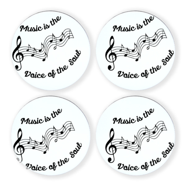 "MusicVoiceofSoul - 90mm/3.5"" round coaster set"