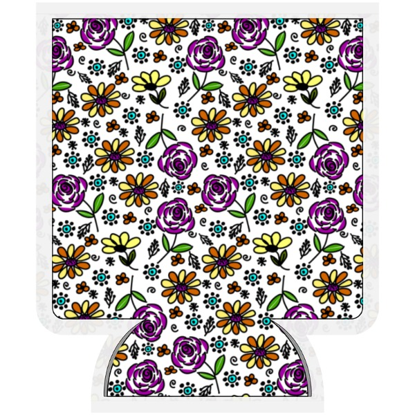 Fun Flowers Koozie - Beverage Cooler