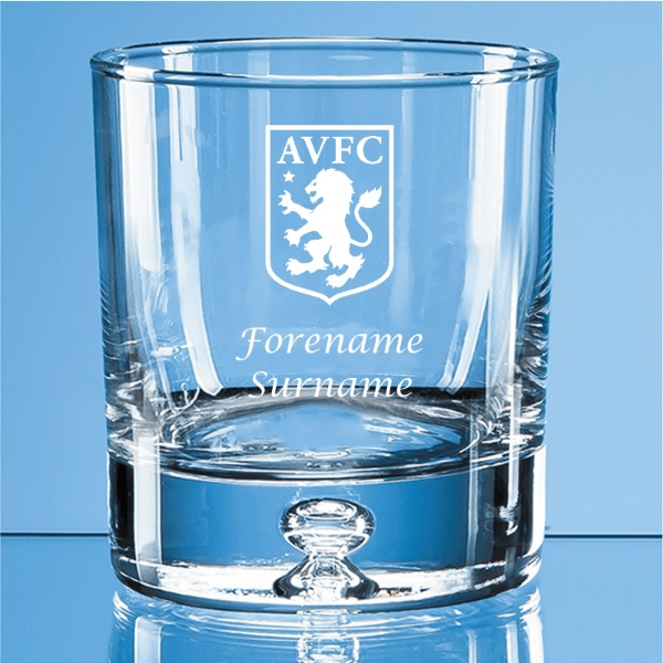 Aston Villa FC Crest Bubble Base Whisky Tumbler