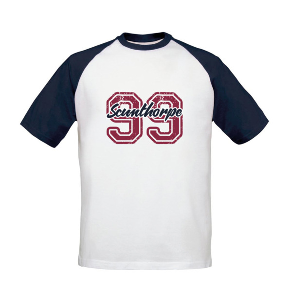 Scunthorpe United FC Varsity Number Baseball T-Shirt