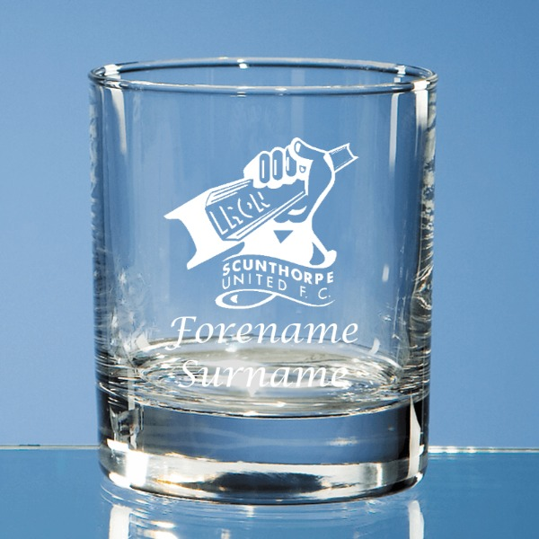 Scunthorpe United FC Crest Old Fashioned Whisky Tumbler