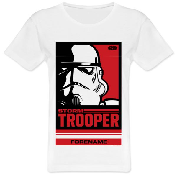 Star Wars Storm Trooper Pop Art Womens T-shirt