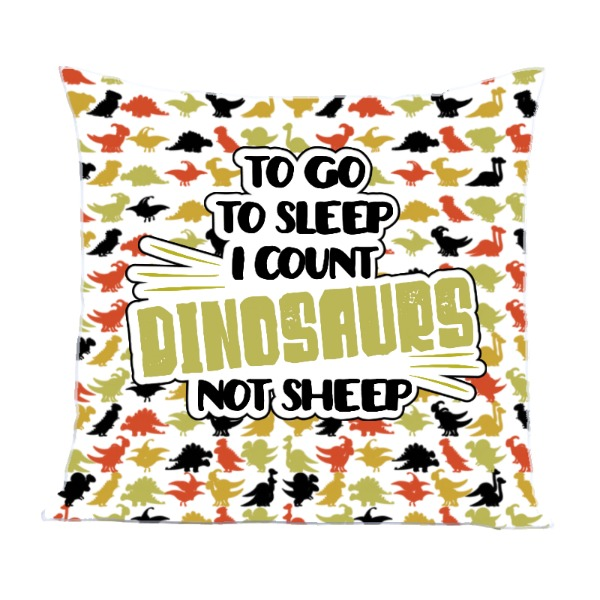 I Count Dinosaurs - Pillow Cover Polyester Canvas Square 40cm