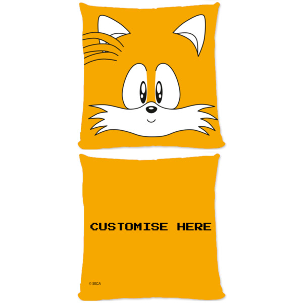 Microfibre Cushion - Tails Face - Classic Sonic