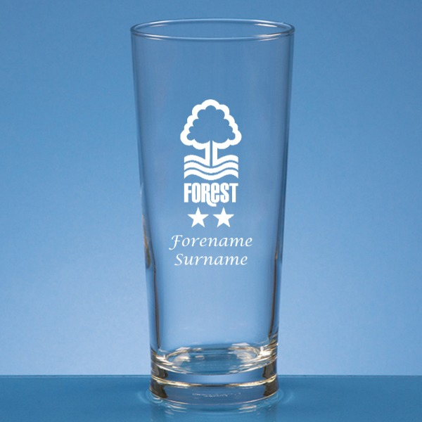 Nottingham Forest FC Crest Straight Sided Beer Glass