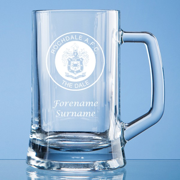 Rochdale FC Crest Small Plain Straight Sided Tankard