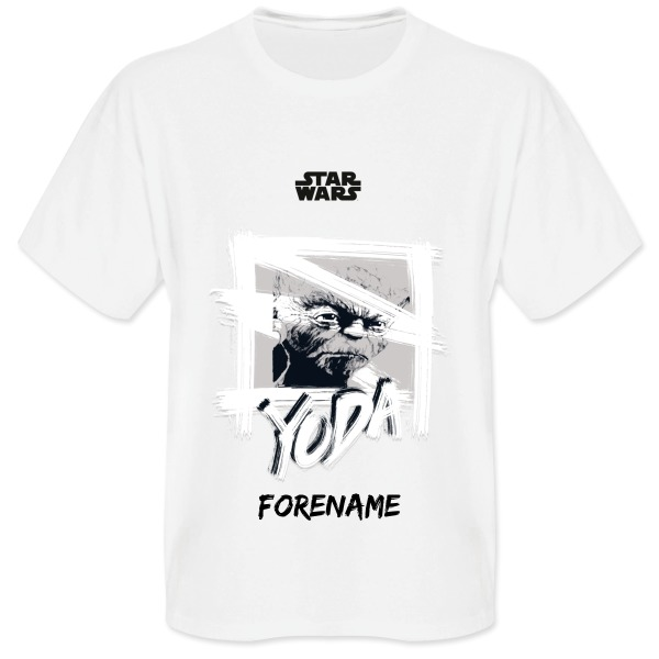 Star Wars Yoda Paint  Mens T-Shirt