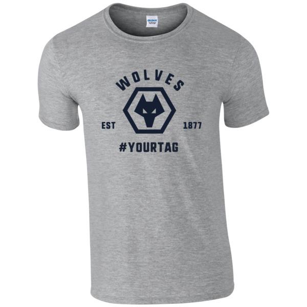 Wolves Vintage Hashtag T-Shirt