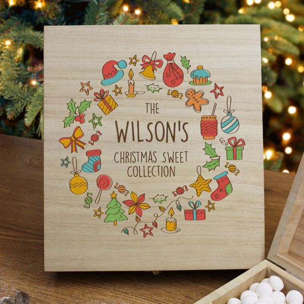 Christmas Collection - Wooden Sweet Box