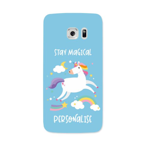 Personalised Unicorn Samsung Galaxy S7 Edge Hard Back Phone Case