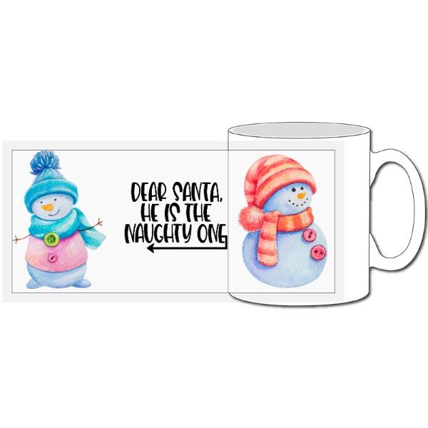 He is the naughty one Christmas - 10oz Ceramic Mug