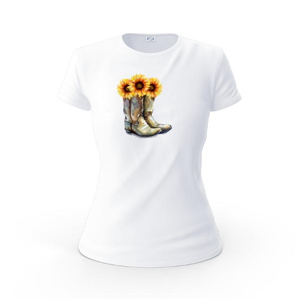 Ladies Solar Short Sleeve Small Print Area