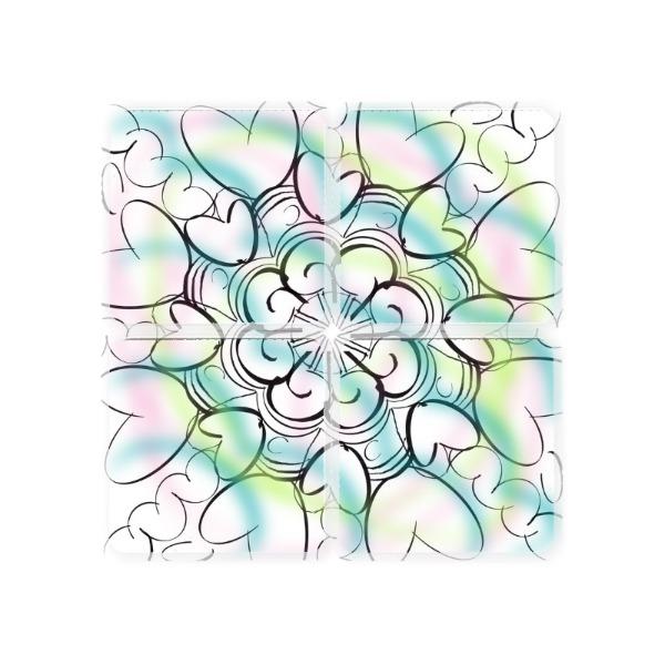 heart mandala - Square Coaster Set