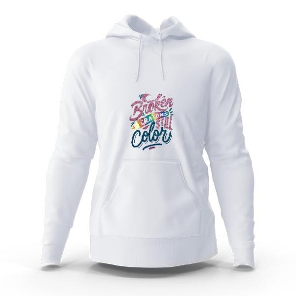 broken crayons - Hoody Sweatshirt Large Print Area