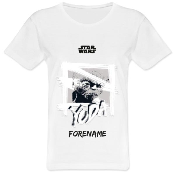 Star Wars Yoda Paint  Ladies T-Shirt
