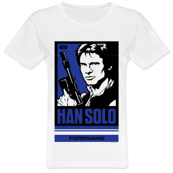 Star Wars Han Solo Pop Art Womens T-shirt
