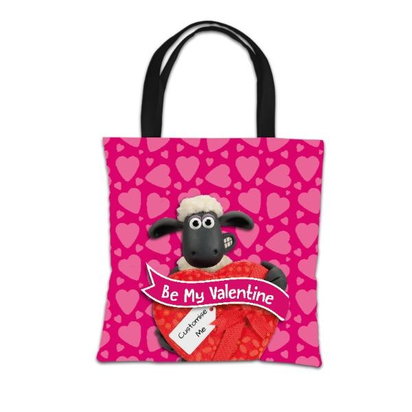 Aardman Shaun The Sheep Valentines 'Be My Valentine' Tote Bag
