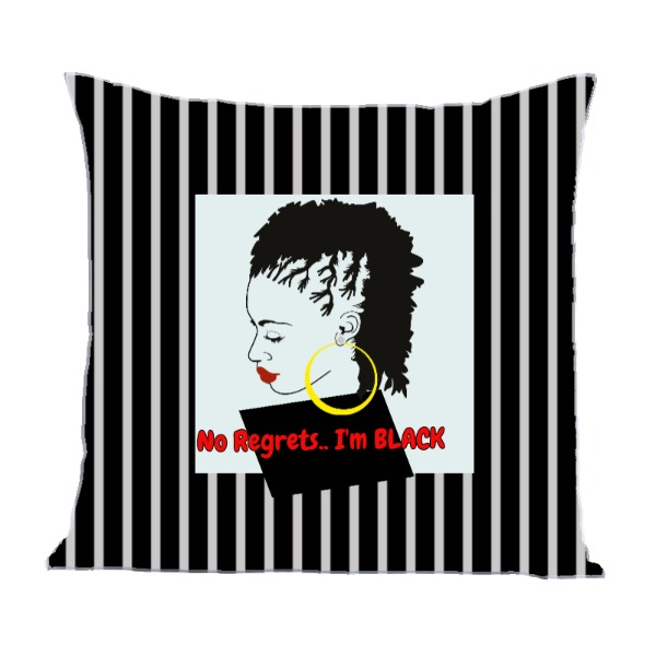 No Regrets - Pillow Cover Polyester Canvas Square 40cm