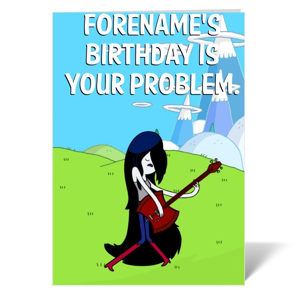 Adventure Time Marceline Birthday Card