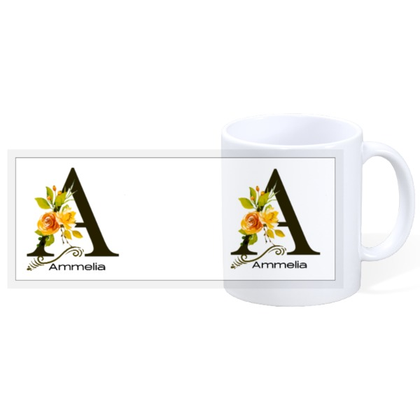 Letter A Custom Mug - 11oz Ceramic Mug