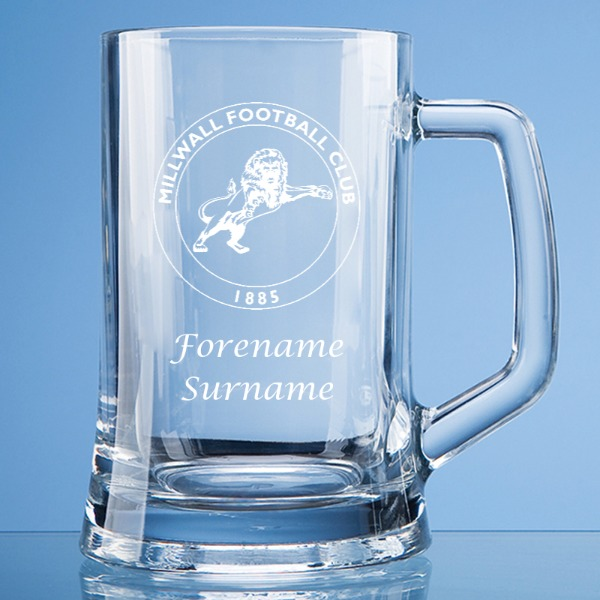 Millwall FC Crest Large Plain Straight Sided Tankard