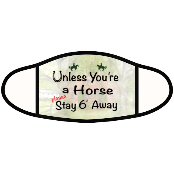 unless youre a horse mask - Face Mask- Large