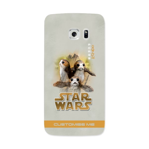 Star Wars Porg Last Jedi Spray Paint Samsung Galaxy 7 Edge Phone Case