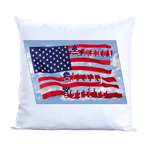 america strong - Pillow Cover Polyester Canvas Square 40cm