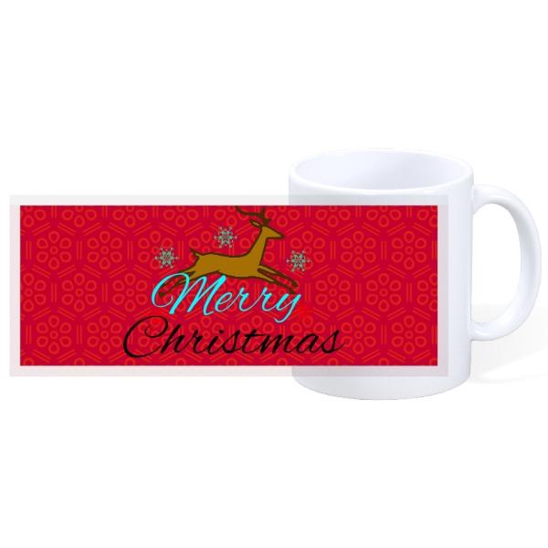 merry christmas reindeer - 11oz Ceramic Mug