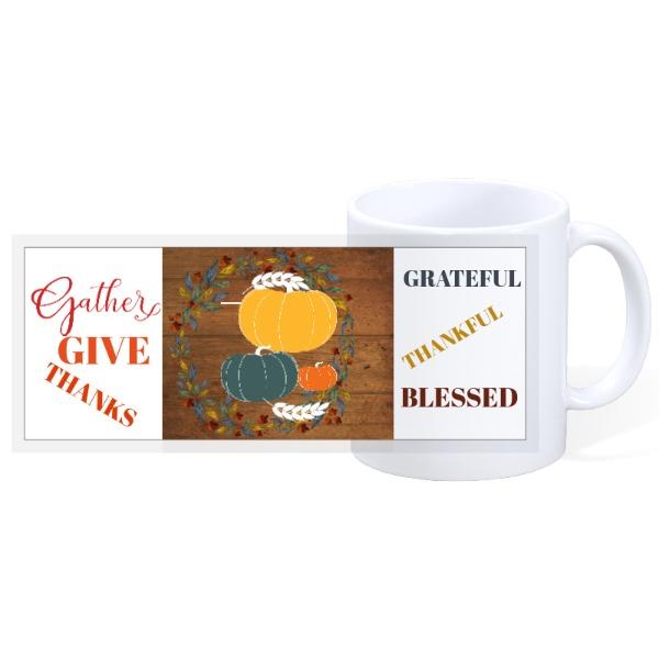 GIVE THANKS - 11oz Ceramic Mug