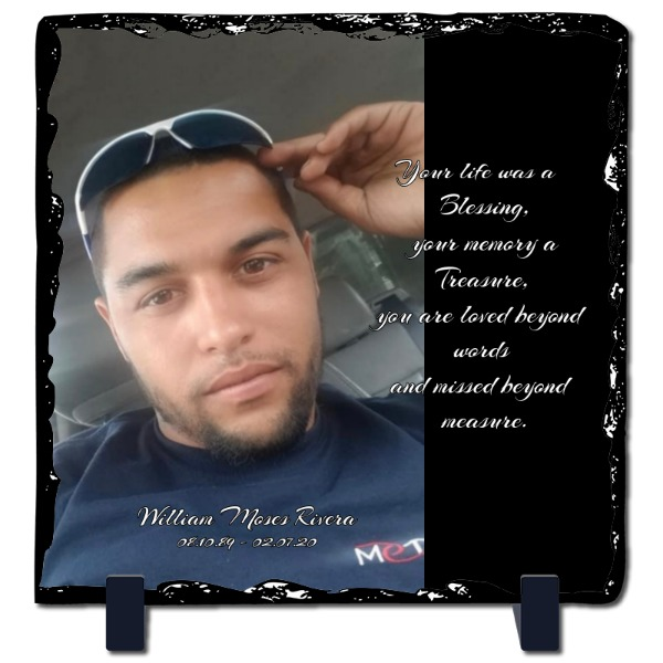 Missing you - Slate Photo Panel Square