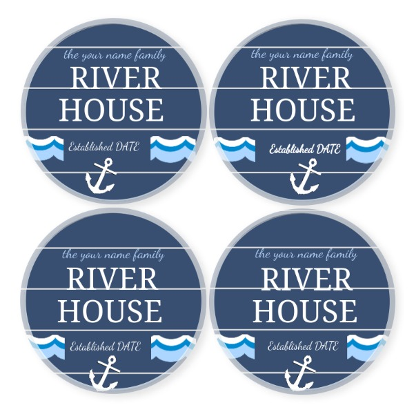 Round River House Coasters - Round River House Coasters - Round River House Coasters - Round River House Coasters - Round Coaster Set