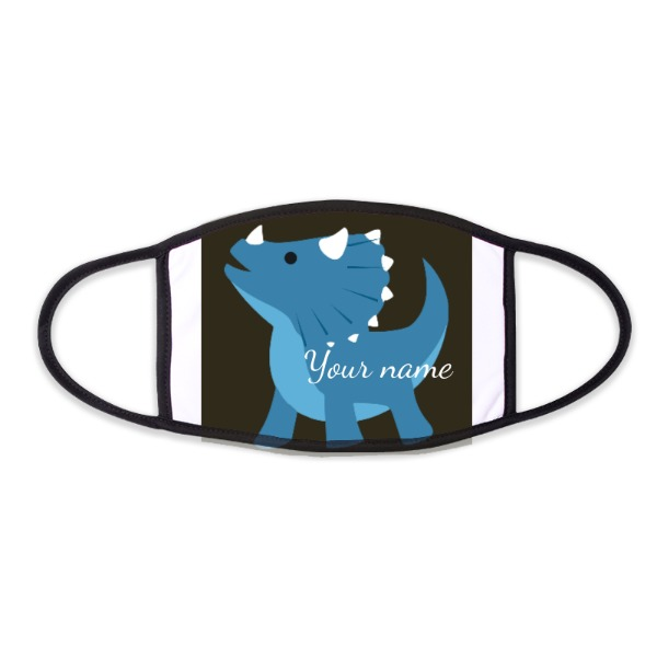 Personalized Dino Mask - Face Mask- Small