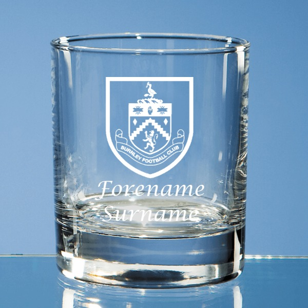 Burnley FC Personalised Old Fashioned Whisky Tumbler