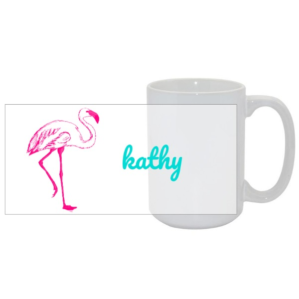 Personalized Flamingo Mug - Mug Ceramic White 15oz