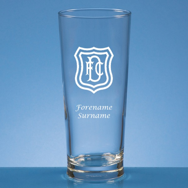 Dundee FC Crest Straight Sided Beer Glass