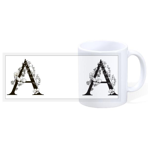 Letter A Mug - 11oz Ceramic Mug