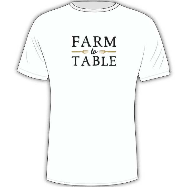Farm to Table (t-shirt) - Mens Solar Short Sleeve Small Print Area