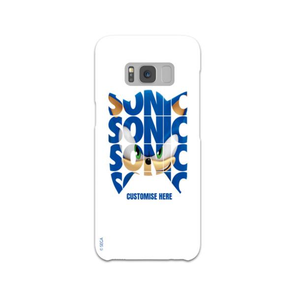Samsung Galaxy S8 Phone Case - Sonic Text - Modern Sonic