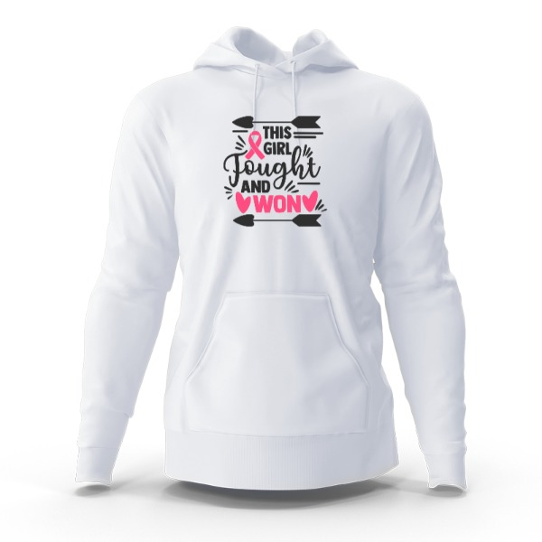 Sweatshirt cancer - Hoody Sweatshirt Small Print Area