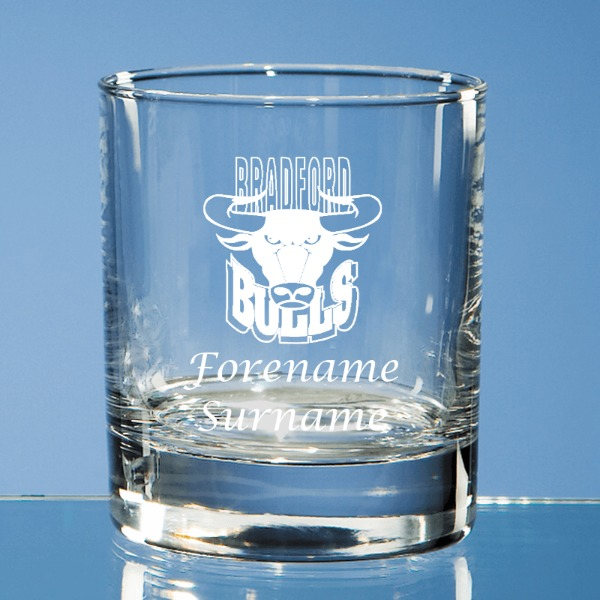 Bradford Bulls Personalised Crest Old Fashioned Whisky Tumbler