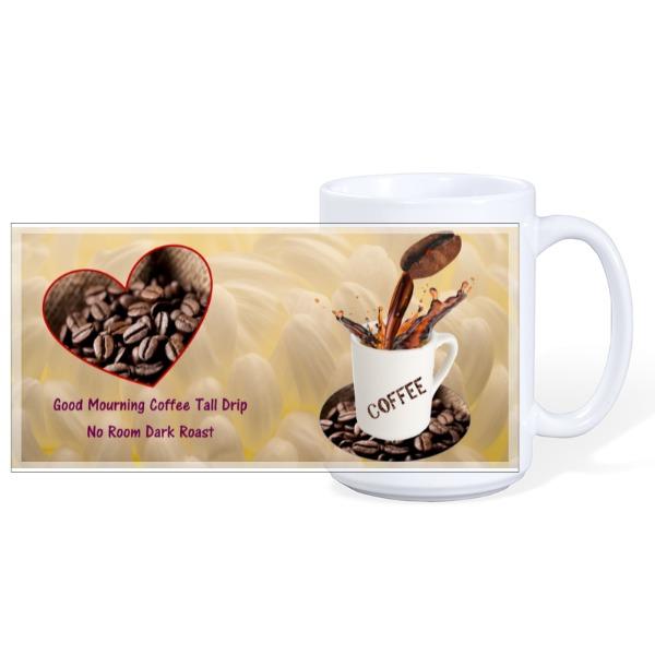 Dark Roast - Mug Ceramic White 15oz