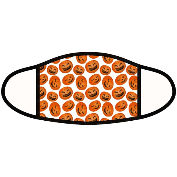 Pumpkin Face - Face Mask- Large