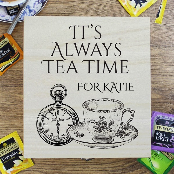 Personalised Wooden Tea Chest